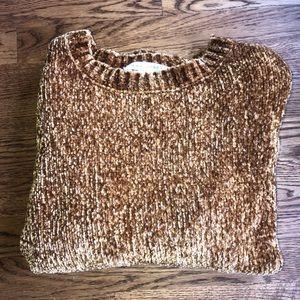 MAX Studio, toffee colored chenille sweater, sm